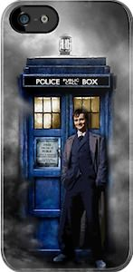 10th Doctor and the Tardis in the mist as iPhone 5 case