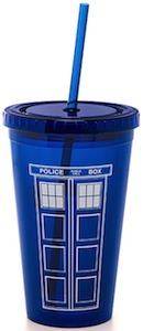 Doctor Who Tardis travel Cup With Straw