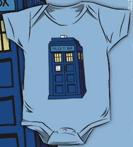 Doctor Who Tardis Baby Bodysuit