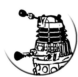 Doctor Who White Dalek Button