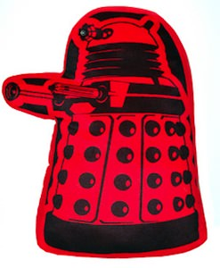 Doctor Who red Dalek pillow