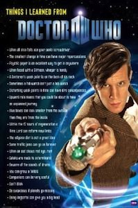 Things I Learned From Doctor Who Poster