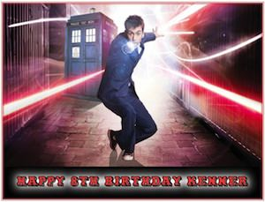 Doctor Who 10th doctor cake topper
