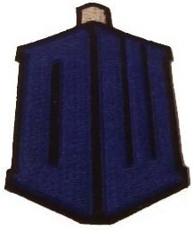 Doctor Who tardis logo clothing patch