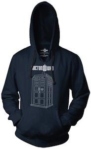 Doctor Who logo and tardis hoodie
