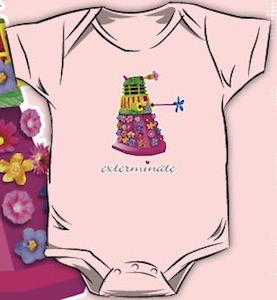 Doctor Who Dalek baby one-piece