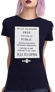 Doctor Who Tardis Message Women's T-Shirt