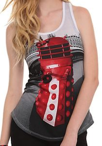 Doctor Who classic red Dalek tank top