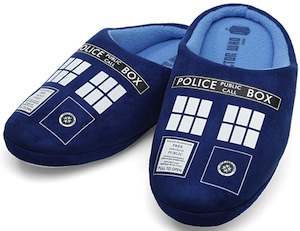 Dr. Who Tardis Slippers