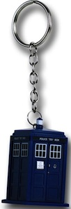 Dr. Who Tardis Rubber Key Chain