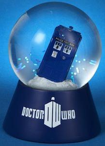 dr who Christmas Tardis Snow Globe