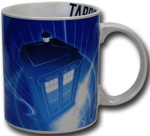 Doctor Who Blue And White Tardis Mug