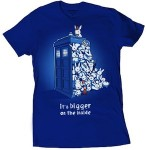 Shop Doctor Who Tardis Bigger on the inside t-shirt