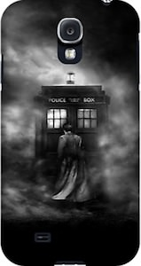 Tardis And The Doctor In The Mist Samsung Galaxy And iPhone Case