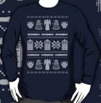 Shop Doctor Who blue Christmas sweater