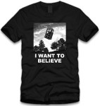 Shop Doctor Who I want to believe t-shirt.