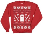 Shop Doctor Who red Christmas sweater