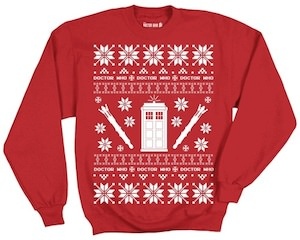 Doctor Who Red Christmas Sweater